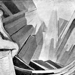 vecchia foto in bianco e nero, 1931 - 50X70
