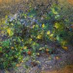O PÓŁNOCY | pastel, papier | 109 x 100 | 2014