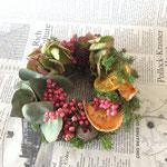 2014年 cafeひらのや様出張レッスン フルーツクリスマスミニリース