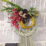 2014年 cafeひらのや様 出張レッスン「お正月飾り」