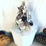 2019年11月 表参道&飯田1dayレッスン 『ホワイトクリスマスツリー』作り