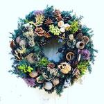 2019年11月 表参道&飯田1dayレッスン 『フレッシュグリーンのクリスマスリース』作り