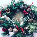 2017年11月 東京 表参道ワークショップ 『フレッシュグリーンのクリスマスリース』
