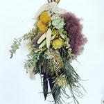 2021年6月 オンライン & 東京 表参道&長野 飯田 1dayレッスン『スモークツリーとワイルドフラワーのスワッグ』作り