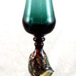 Shell goblet, borosilicate flamework