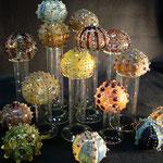 Urchins, borosilicate flamework