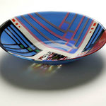 fused bullseye bowl 14 Diameter