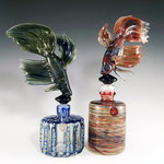Pair of Betta Perfume Bottles