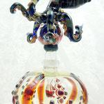 Octopus Perfume bottle, borosilicate flamework