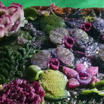 Flower Garden 3 pate de verre 10 H X 12 W