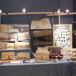 Holzintarsien-Bretter von Katharina Steinegger, tierische Holzmagnete