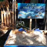 Hier können Kinder  kleines Holzspielzeug von Jean Luc  um 2.- angeln ! jedes Angeln ein Gewinn!