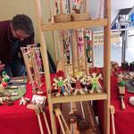 Samo Gaspersic zeigte Holzspielzeug