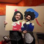 """Die Kulisse zur Kinderbuchlesung """"Prinzessin Hannibal"""", gestaltet vom Illustrator  Michael Roher"""
