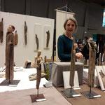 Ruth Rindlisbacher aus Kärnten zeigte wieder gestaltete Objekte aus Treibholz aus der Drau