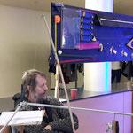 Stephan Pöhnlein und seine wunderbare Wandmaschine, die halbstündlich vorgeführt wurde...