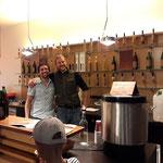 Die Granitdestillerie Günther Mayer aus dem Waldviertel  bot Obstsäfte, Nektar, und warme Glühapfel-drinks
