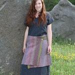 Textildesign Gerda Kohlmayr, Leinenkleid mit Wollwalkrockerl...schön warm !