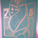 L'Hiver / Redwing Blackbird  hand screened and designed by eric