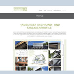 www.hamburger-blechwerk.de –PROFILE – Informationen über die Hamburger Dachrand- und Fassadenprofile
