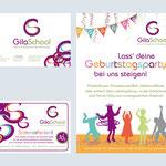 www.gilaschool.de – Firmenschild – Anzeige im Alsterkind Magazin – A1 Aufsteller Kundenstopper