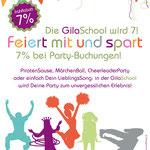 GilaSchool – Mottoparty in der GilaSchool feiern
