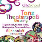 GilaSchool – Plakat für den Eingang der Kindertanzschule