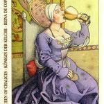 Reine de Coupes - Le tarot de Dürer