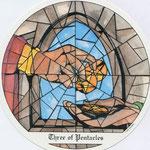 3 de Deniers - Le tarot des Cloîtres