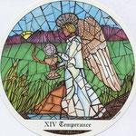 XIV Tempérance - Le tarot des Cloîtres
