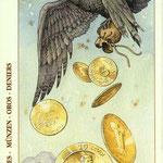 6 de Deniers - Le tarot de Dürer