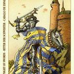 Chevalier d'Épées - Le tarot de Dürer
