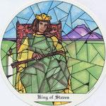 Roi de Bâtons - Le tarot des Cloîtres