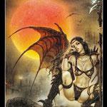 Royo Dark Tarot - Érotique - XIX Le Soleil
