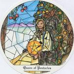 Reine de Deniers - Le tarot des Cloîtres