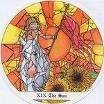 XIX Le Soleil - Le tarot des Cloîtres