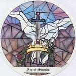 As d'Épées - Le tarot des Cloîtres