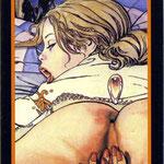 Tarot Manara - Érotique - Reine de Feu