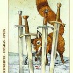 4 d'Épées - Le tarot de Dürer