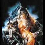 Royo Dark Tarot - Érotique - Reine d'Épées