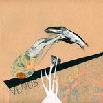 Le coquille, técnica mixta sobre papel vintage 2010