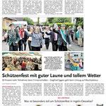Zeitungsartikel vom Volks- und Schützenfest in Ingeln-Oesselse von Montag, dem 2. Juni