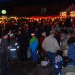 Blick auf den Weihnachtsmarkt 2015