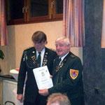 40 Jahre: Siegfried Eggers 1. Vorsitzender, Jochen Kallmeyer