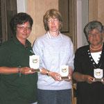 v.l. 1. Platz Conny Kernbach, 2. Platz Silvia Aue, 3. Platz Dorle Langenberg