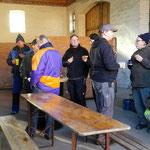Mittagspause: Bei einem leckeren Handwerkerbuffet konnten die Helfer/innen kurz verschnaufen