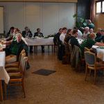 Mitglieder des Schützenvereins Oesselse bei der Proklamation 2014