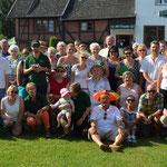 Gruppenfoto aller Teilnehmer der Fahrradrallye 2014