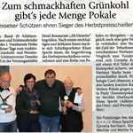 Bericht vom Grünkohl- und Wurstessen in der Hallo Wochenende vom 16. November 2014