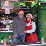 Karin Franke und Klaus Specht betreuten den Getränkewagen